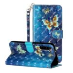Light Spot Decor Pattern Printing Shell Wallet Stand Leather Cover for Xiaomi Redmi Note 8T – Butterfly