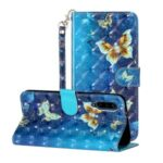 Light Spot Decor Pattern Printing Wallet Stand Flip Leather Case for Xiaomi Mi 9 Pro – Butterfly