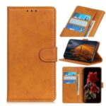Wallet Stand PU Leather Protective Phone Cover for Oppo Reno4 5G – Brown