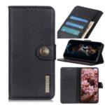 KHAZNEH Leather Wallet Case for Oppo Reno4 5G – Black