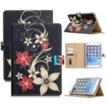 Universal Pattern Printing PU Leather + TPU Flip Tablet Cover for 7-Inch Tablets – Red Flower