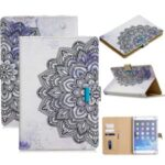 Universal Pattern Printing PU Leather + TPU Flip Tablet Cover for 10-inch Tablets – Mandala Flower