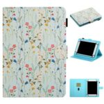 Pattern Printing Card Holder Stand Leather Tablet Case for 8-inch Tablets – Floret