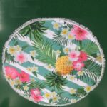 Flower Printing Round Beach Towel Microfiber Beach Blanket