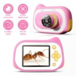 INSKAM312 Kids 2.0-inch Screen Camera Children Digital Camera with 200X Digital Zoom – Pink