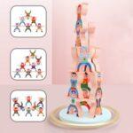 JJ854 Classic Educational Assemble Toys Plastic Stacking Blocks Balancing Game