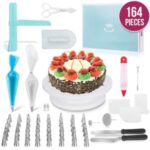 164 Pcs/Set DIY Baking Cake Home Kitchen Tool Turntable Set Practical Cake Nozzles