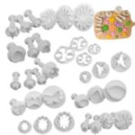 33PCS Baking Tools Cake Mold Set Plastic Spring Biscuit Compression Mold Cake Mold