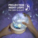 Starlight Lamp Projector Night Light Bedside Creative Rotating Music Box