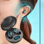 A10 LED Digital Display TWS Bluetooth Headsets Waterproof Wireless Sports Headsets with Charging Bin