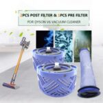 2pcs Post Filter & 1pcs Pre Filter HEPA Motor Filter Replacement for Dyson V6 Vacuum Cleaner
