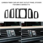 5PCS/Set Carbon Fiber Car Air Vent Outlet Panel Decor Sticker for BMW 5 Series F10