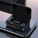 TWS Bluetooth In-ear Headset Earphone Wireless Headphones Digital Display Earbuds with Charging Box – Black