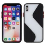 Contrast Color Splicing TPU Phone Cover Precise Cut-out Hole for iPhone X/XS 5.8 inch – Black