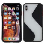 Contrast Color Splicing TPU Cell Phone Case Precise Cut-out Hole for iPhone XS Max 6.5 inch – Black