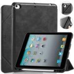 DG.MING See Series Auto Wake & Sleep Leather Phone Case for Apple iPad mini (2019) 7.9 inch / iPad mini 4 – Black