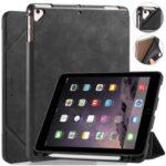 DG.MING See Series Auto Wake & Sleep Leather Phone Case for Apple iPad 9.7-inch (2018)/iPad 9.7-inch (2017) – Black
