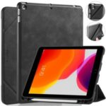 DG.MING See Series Case Auto Wake & Sleep Leather Shell for Apple iPad 10.2 (2019) – Black