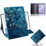 Pattern Printing Wallet Leather Tablet Shell for Samsung Galaxy Tab A 8.4 (2020) – Flower Branch