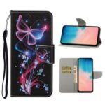 Pattern Printing Wallet Leather Stand Case for Samsung Galaxy A71 SM-A715 – Butterfly and Flower
