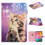 Pattern Printing Multi-angle Stand Leather Card Slot Tablet Cover for Samsung Galaxy Tab A 8.0 Wi-Fi (2019) SM-T290 – Cute Cat