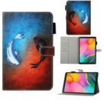 Pattern Printing Wallet Leather Stand Case for Samsung Galaxy Tab A 10.1 (2019) – Fish