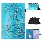 Pattern Printing Leather Card Holder Stand Tablet Shell for Samsung Galaxy Tab A4 S 8.4 (2020) T307 – Flower Branch