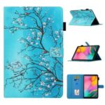 Pattern Printing Leather Card Holder Stand Tablet Protection Cover for Samsung Galaxy Tab A 10.1 (2019) T510/T515 – Flower Branch