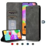 Auto-absorbed Business Style PU Leather Shell with Card Slots for Samsung Galaxy A41 (Global Version) – Black