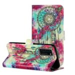 Pattern Printing Leather Wallet Phone Casing for Huawei P40 – Dream Catcher