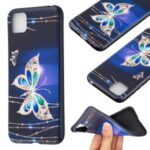 Pattern Printing Soft TPU Phone Cover for Huawei Y5p/Honor 9S – Metal Butterflies