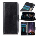Crazy Horse Wallet Leather Stand Case for Huawei Enjoy Z 5G/Enjoy 20 Pro – Black