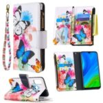 BF03 Pattern Printing Zipper Wallet Cover Leather Phone Shell for Huawei P smart 2020 – Vivid Butterfly