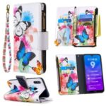 Pattern Printing Zipper Pocket Wallet Leather Stand Case for Huawei Y7 (2019) – Vivid Butterflies