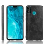 PU Leather Coated PC + TPU Protector Cover for Honor 9X Lite – Black