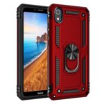 360° Rotatable Ring Kickstand Armor PC+TPU Combo Shell for Xiaomi Redmi 7A – Red