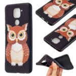 Printing Embossed TPU Phone Case for Xiaomi Redmi Note 9/Redmi 10X 4G – Brown Owl