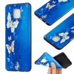 Printing Embossed TPU Shell for Xiaomi Redmi Note 9S/Redmi Note 9 Pro/Redmi Note 9 Pro Max – Butterfly Pattern
