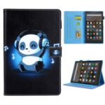 Printing Skin PU Leather Tablet Shell Auto Wake & Sleep for Amazon Fire HD 8/Fire HD 8 Plus (2020) – Panda