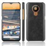 Litchi Texture PU Leather Coated PC Case Phone Cover for Nokia 5.3 – Black