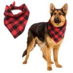 Dog Classic Plaid Pet Bandana Scarf Triangle Pet Bibs Kerchief – Size: M