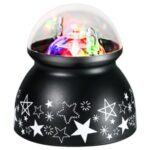 Mini Colorful Rotating USB Projector Light for Home Christmas KTV Party Stage Lighting – Black