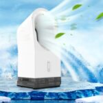 Mini Leafless Spray Fan Home Outdoor Office Portable Humidifying Cooling Fan
