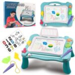 Magnetic Drawing Board Erasable Writing Sketch Board Kids Educational Toys – Blue
