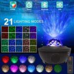 Starry Night Lamp Light Bluetooth Remote LED Star Projector Light
