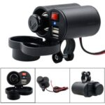 Universal Waterproof 2.5A Dual – USB Motorcycle Cigarette Lighter Charger