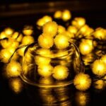20-LED Solar Bulb String Lights 2 Modes Outdoor Garden Fairy Lamp Decor – Warm White