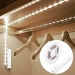 1m 30-LED Cabinet Strip Light with Remote Sensitive PIR Motion Sensor – White