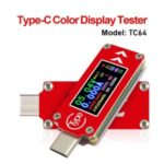 TC64 Type-C Color LCD Display USB Voltmeter Ammeter Voltage Current Meter Multimeter Battery PD Recharge Power Bank USB Tester