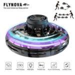 Flynova UFO Fingertip Flying Spinner Flight Gyro Decompression Toy for Adult and Kids – Black